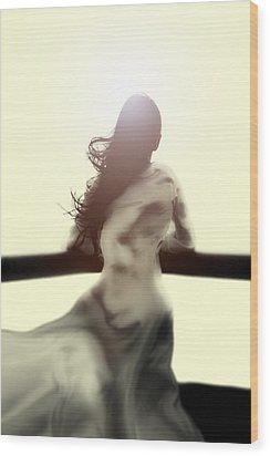 Girl In White Dress Wood Print by Joana Kruse