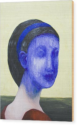 Girl With No Face Wood Print by Kazuya Akimoto