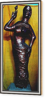 Girl With Rose Wood Print by Anand Swaroop Manchiraju