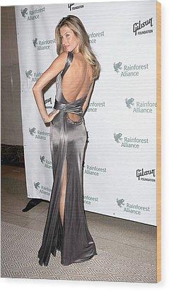 Gisele Bundchen  Wearing A Versace Wood Print by Everett
