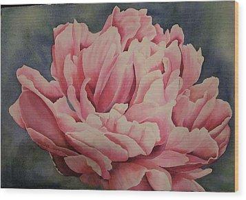 giving YOU up Wood Print by Teresa Beyer