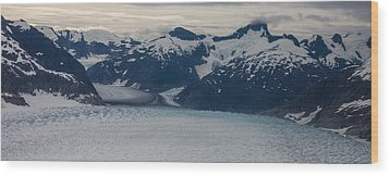 Glacial Panorama Wood Print by Mike Reid