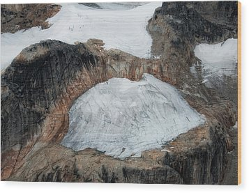 Glacier And Rock Wood Print