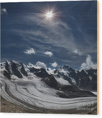 Glacier In Heaven Wood Print by Bruno Santoro