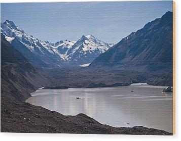 Glacier Lake Wood Print by Graeme Knox