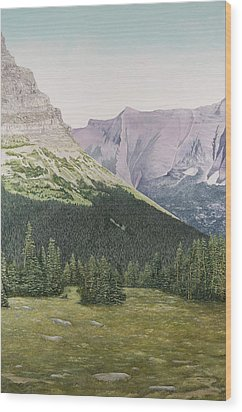 Glacier National Park Montana Wood Print