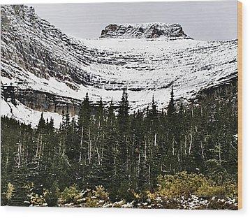 Glacier Park Bowlrock Wood Print by Susan Kinney