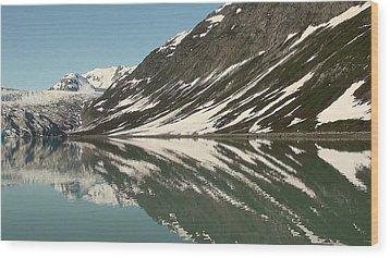 Glacier Receeding Wood Print