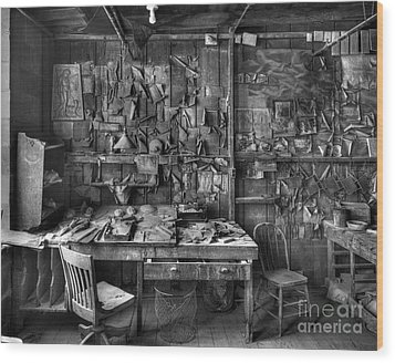 Gladding Mcbean Engineer's Room Wood Print by Ron Schwager