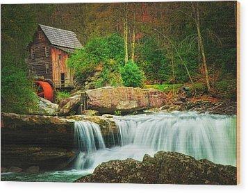 Glade Creek Mill 2 Wood Print