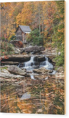 Glades Creek Mill Wood Print by Doug McPherson