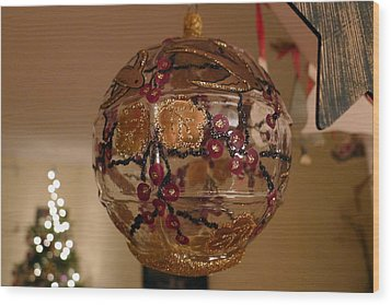 Wood Print featuring the photograph Glass Bauble by Richard Reeve