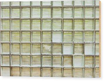 Glass Brick Wall Wood Print by Tom Gowanlock