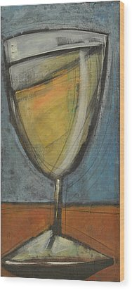 Glass Of White Wood Print by Tim Nyberg