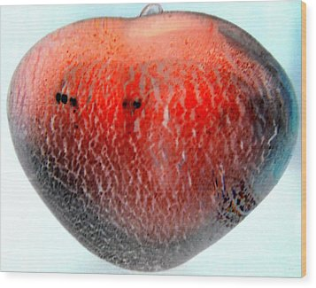 Glass Orb Red Wood Print by Randall Weidner