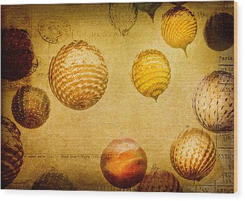 Wood Print featuring the photograph Glass Ornaments by James Bethanis