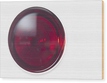 Glass With Red Wine Wood Print by Mats Silvan
