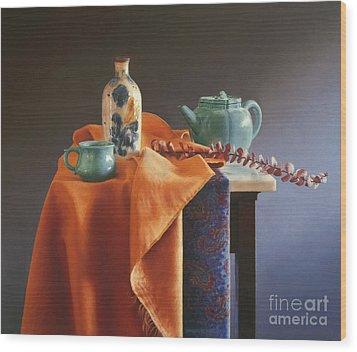 Glazed With Light Wood Print by Barbara Groff