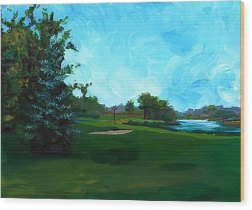 Glen Eagle Golf Course Wood Print