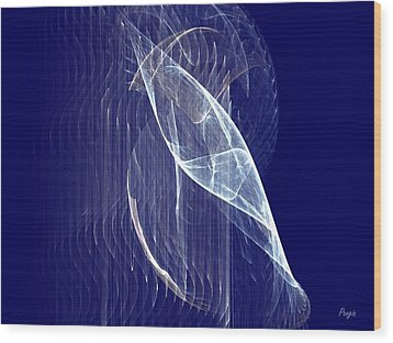 Wood Print featuring the digital art Glimmer Fish by John Pangia