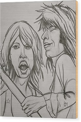 Glimmer Twins Wood Print by Pete Maier