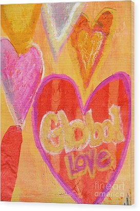 Global Love Wood Print