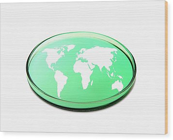 Global Research, Conceptual Image Wood Print by Victor De Schwanberg