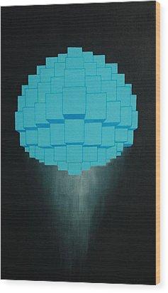 Globule Wood Print by Michael Mizenko
