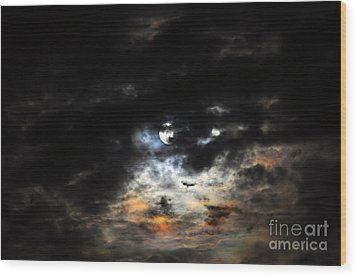 Glorious Gibbous - Wide Version Wood Print by Al Powell Photography USA