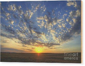 Glorious Sunrise Wood Print by Jim And Emily Bush