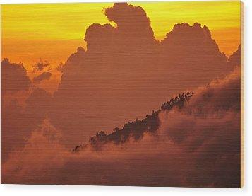Glorious Sunrise Wood Print by Sebastien Coursol