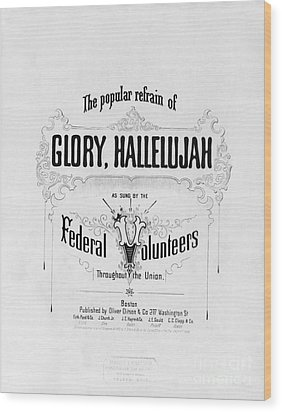 Glory, Hallelujah Wood Print by Photo Researchers