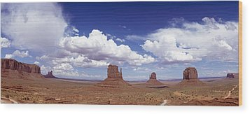 Glove Buttes And Clouds Wood Print by Axiom Photographic