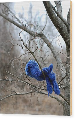 Glove Lost Wood Print by Lisa Phillips