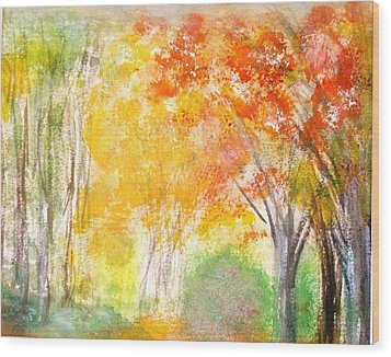 Glow Wood Print by Edie Schmoll