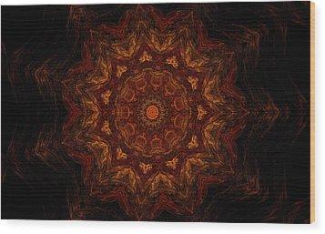 Glowing Within 3 Wood Print by Rhonda Barrett