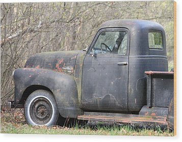 Wood Print featuring the photograph Gmc Rusting At Rest by Mark J Seefeldt