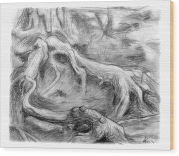 Gnarled Wood Print by Adam Long