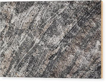 Wood Print featuring the photograph Gneiss Rock Pattern by Les Palenik
