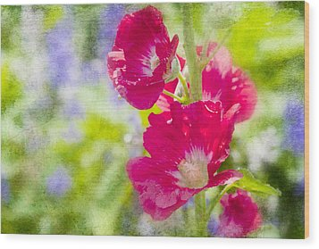 Go Paint In The Garden Wood Print by Toni Hopper