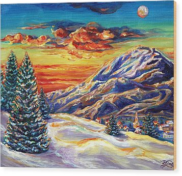 Go Tell It On The Mountain Wood Print by Suzanne King