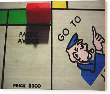 Go To Jail Wood Print by Robert Cunningham