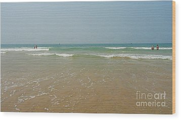 Goa Beach Wood Print by Conceptioner Sunny