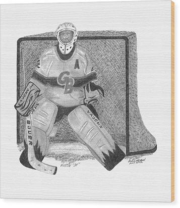 Goalie Wood Print by Bob and Carol Garrison