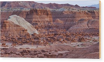 Goblin Valley Triptych Right Wood Print by Gregory Scott