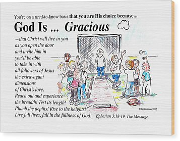 God Is Gracious Wood Print by George Richardson