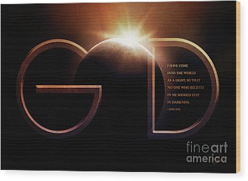 God Is Light Wood Print by Shevon Johnson