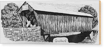 Goddard Covered Bridge Wood Print by Kyle Gray