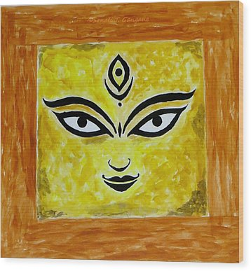 Wood Print featuring the painting Goddess Kali by Sonali Gangane