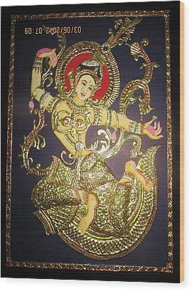 Goddess Tara Wood Print by Asha Nayak